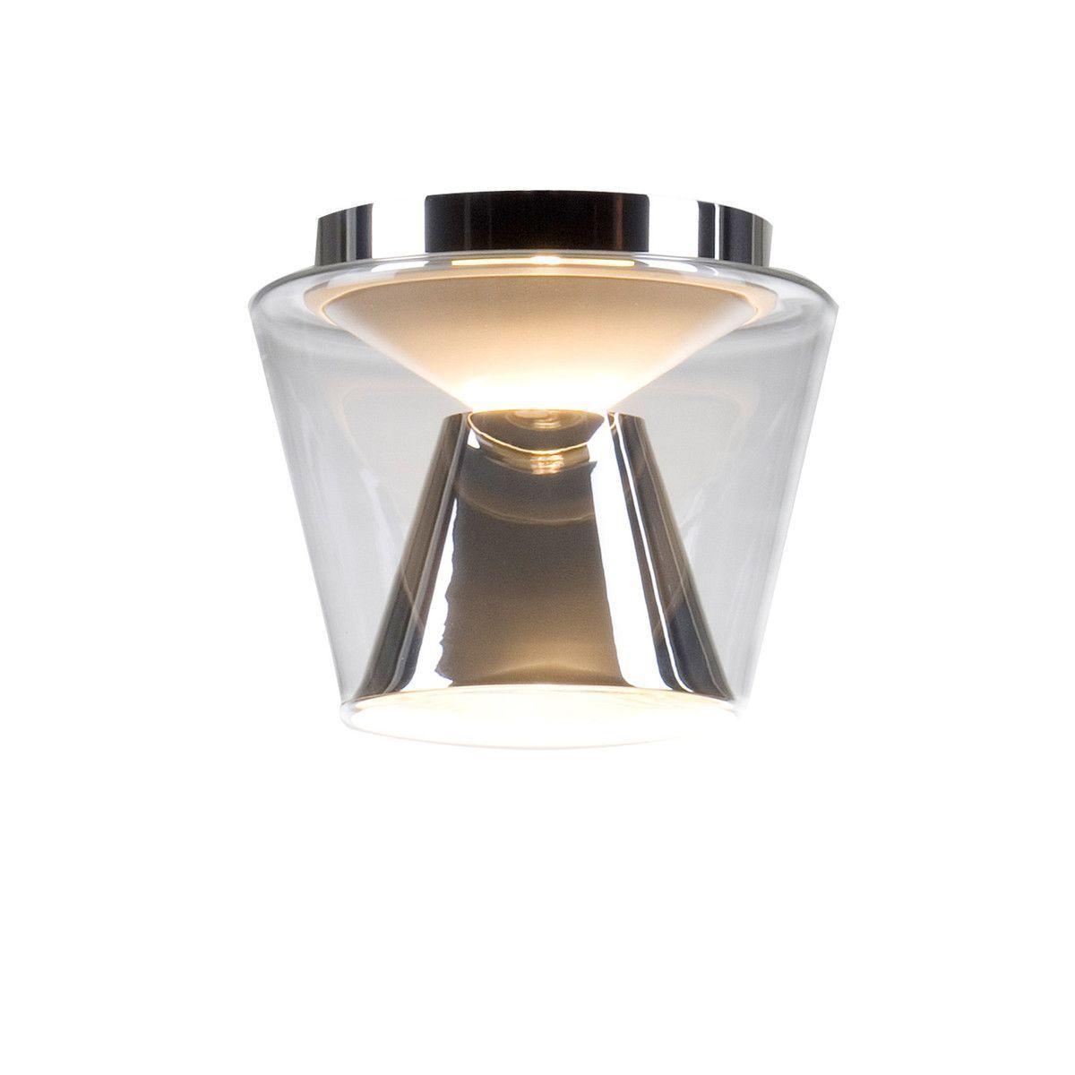 Plafoniera Sticla Reflector Crom