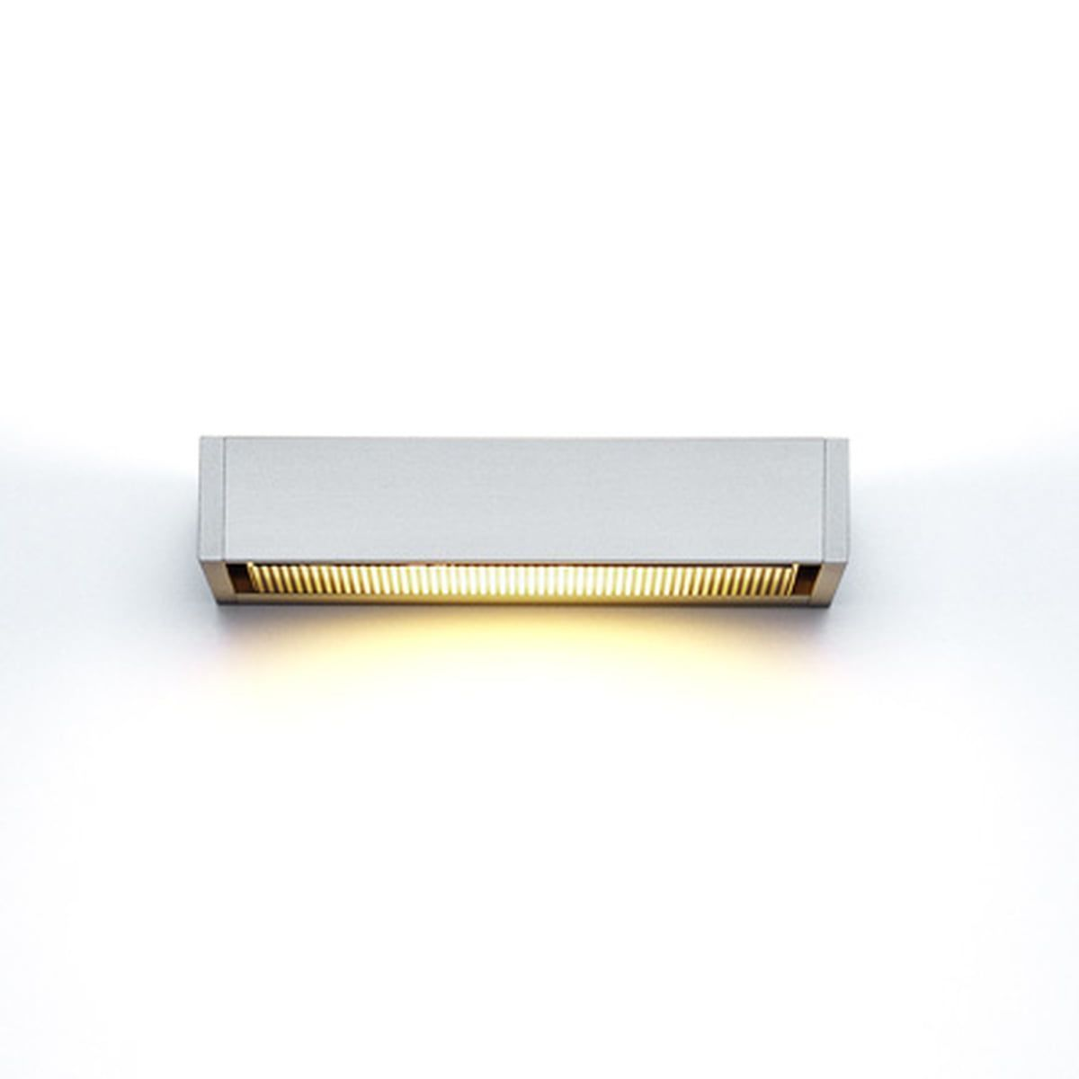 serien.lighting - SML Wall Lamp, silver anodised, medium