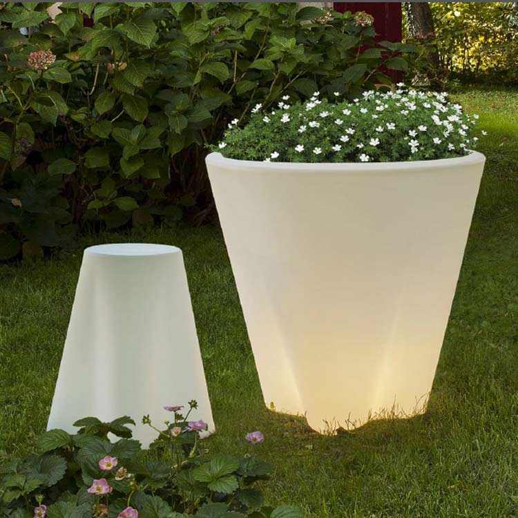 Lampadar Pot Led Floral Out Light