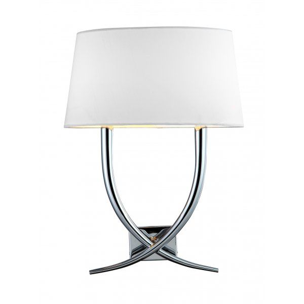 Aplica Nickel Twin Armed Curved Perete Lamp