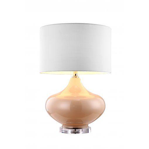 Lampa Birou Ava Crem Sticla Crem