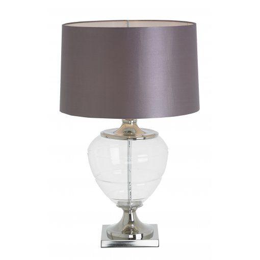 Lampa Birou Biana Sticla Nickel Urn
