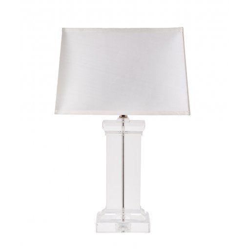 Lampa Birou Solid Cristal Alb