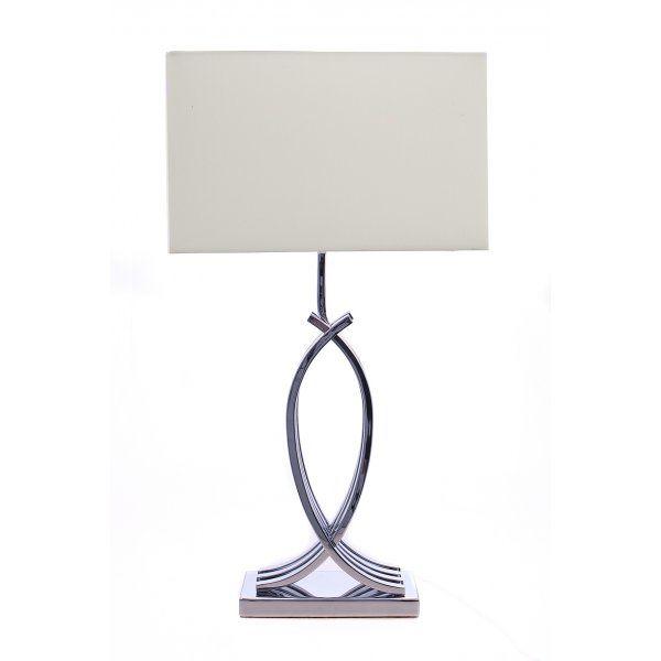 Lampa Birou Coco Crom Alb