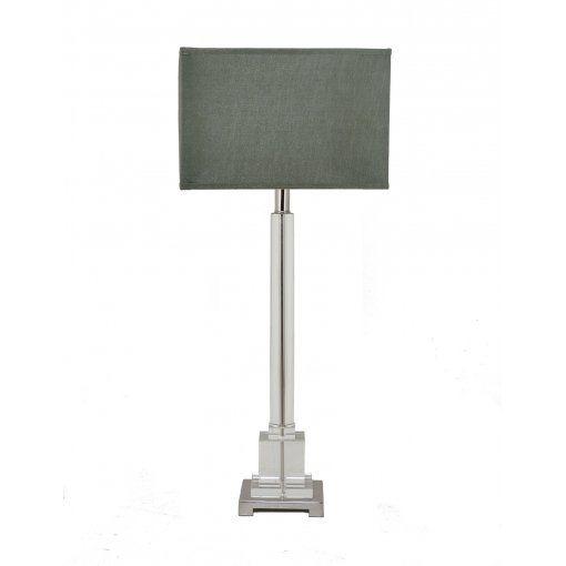 Lampa Birou Darcy Nickel Sticla Column Lamp