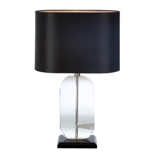 Lampa Birou Elvia Cristal Negru Oval