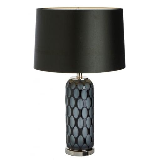 Lampa Birou Gri Negru Sticla Base