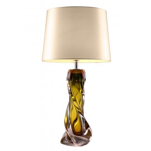 Lampa Birou Oriana Olive Verde Sticla Base