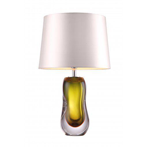 Lampa Birou Ottivia Olive Verde Sticla Base