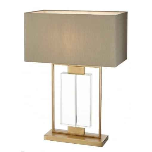 Lampa Birou Ryston Antic Cupru Crystal