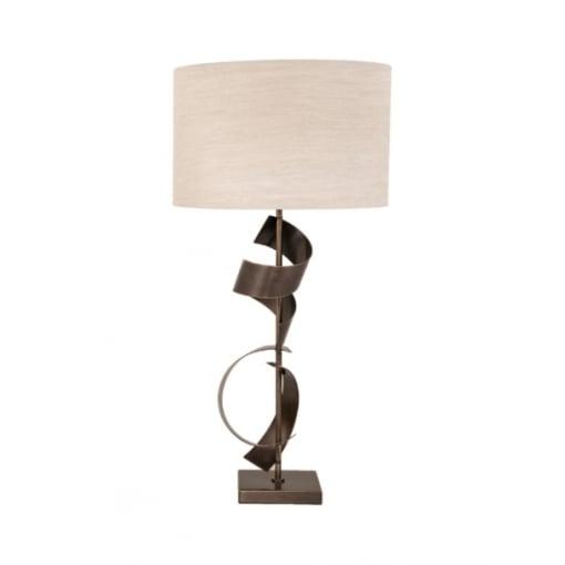 Lampa Birou Scroll Antic Cupru