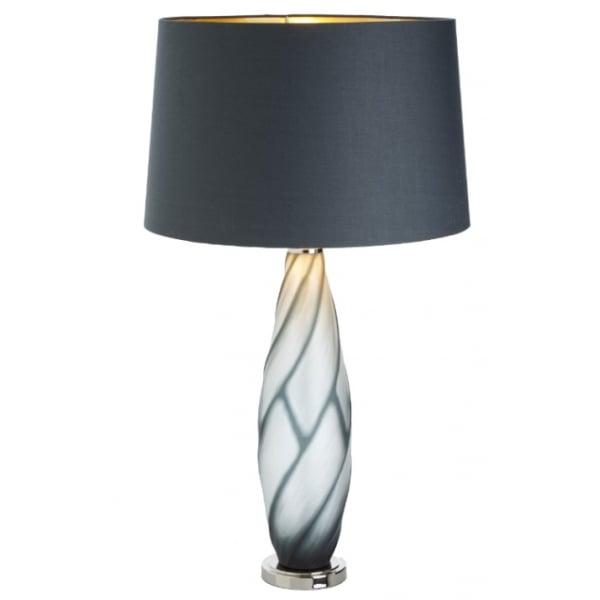 Lampa Birou Gri Sticla Base