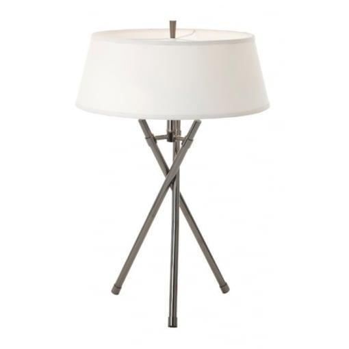 Lampa Birou Tabor Negru Nickel Tripod Lamp