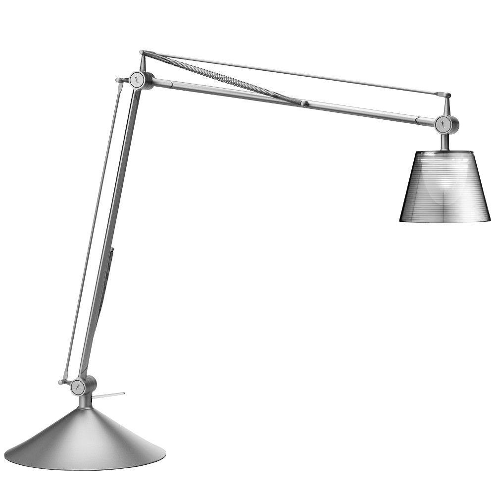 Lampa Birou Baza Aluminized Argintiu