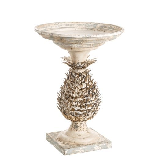 Masuta Cafea Pineapple Alb Auriu Metal