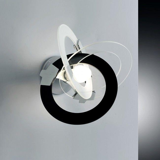 Plafoniera Led Negru Alb Transparent Moderna