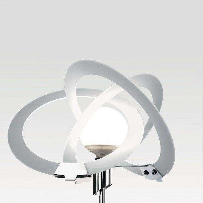Lampadar T Ledabil Negru Alb Transparent Moderna
