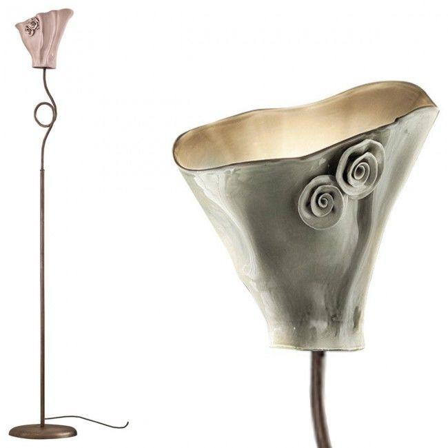 Lampadar Led Ceramica Colorata Lampada Clasic Rustica Intern