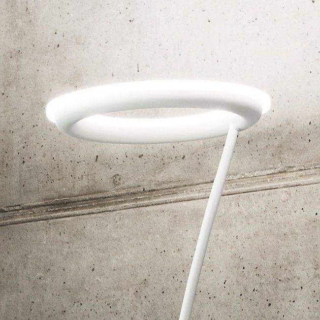 Lampadar Led Aluminiu Alb Negru Moderna