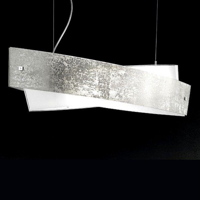 Lustra Oval Auriu Argintiu Modern