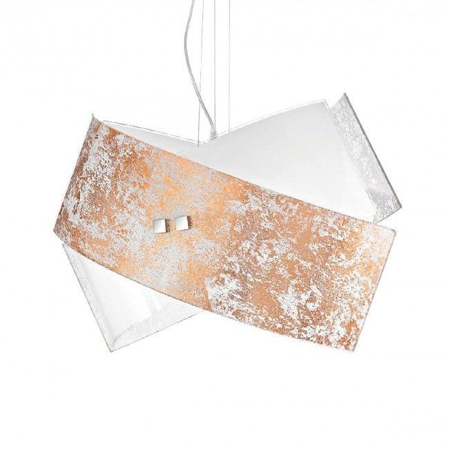 Lustra Led Auriu Argintiu Modern