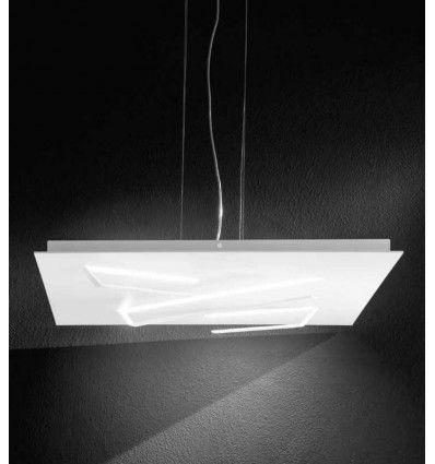 Lustra Led Modern Aluminiu Alb