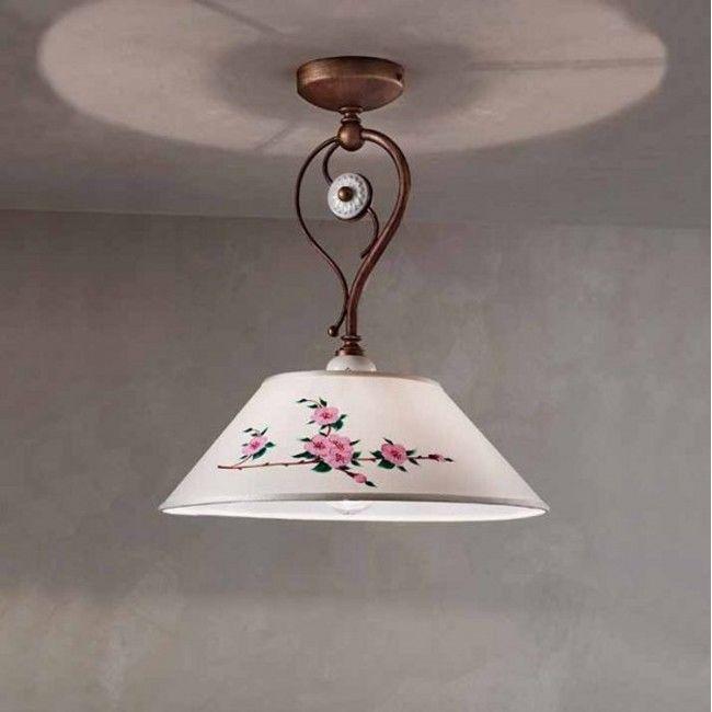 Plafoniera Biella Led Ceramica Clasic Intern