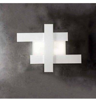 Plafoniera Led Aluminiu Alb Negru Moderna