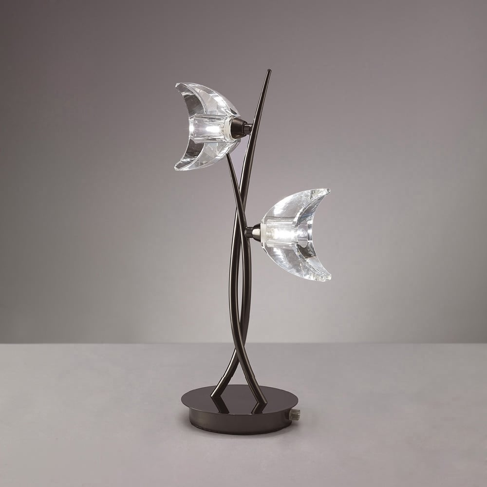 Lampa Birou Negru Crom