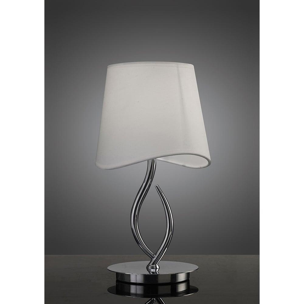 Lampa Birou Crom Alb