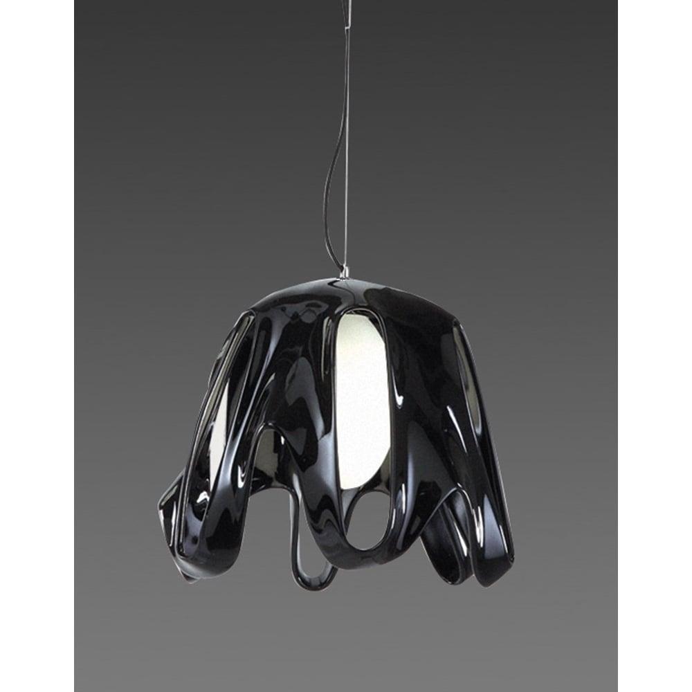 Lustra Mantra M3741 Phantom Pendant 1 Light Gloss Black
