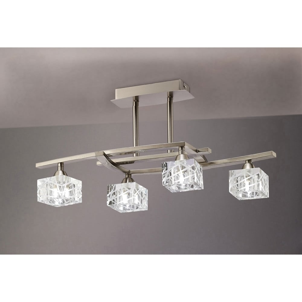 Plafoniera Semi Flush Satin Nickel