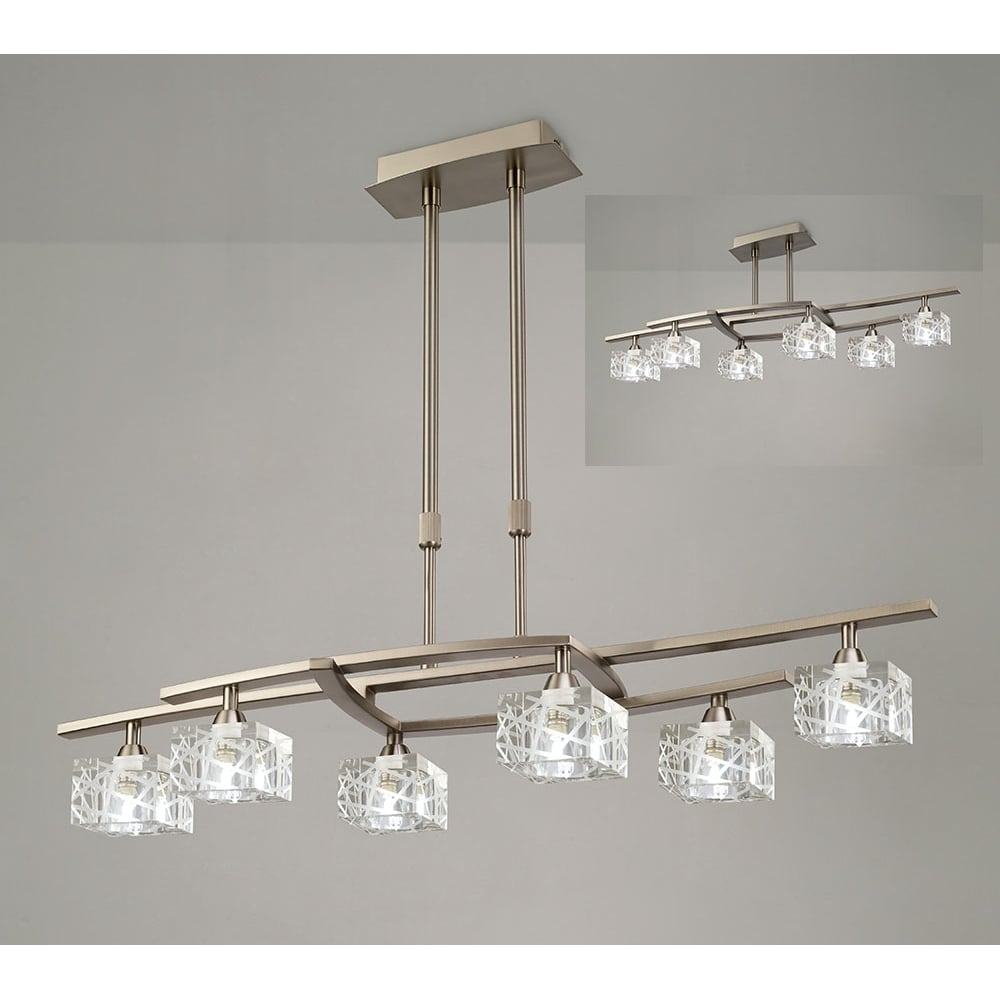 Plafoniera Satin Nickel Semi Flush