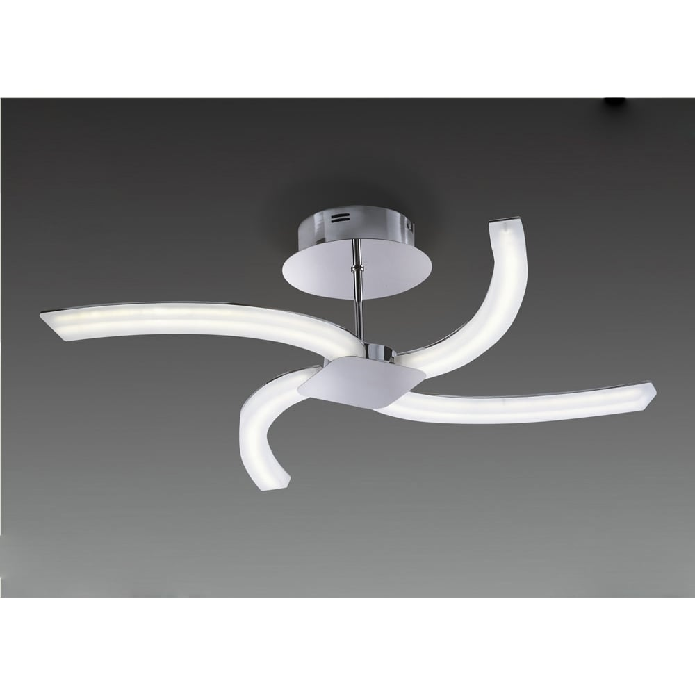 Plafoniera Semi Flush Led Crom