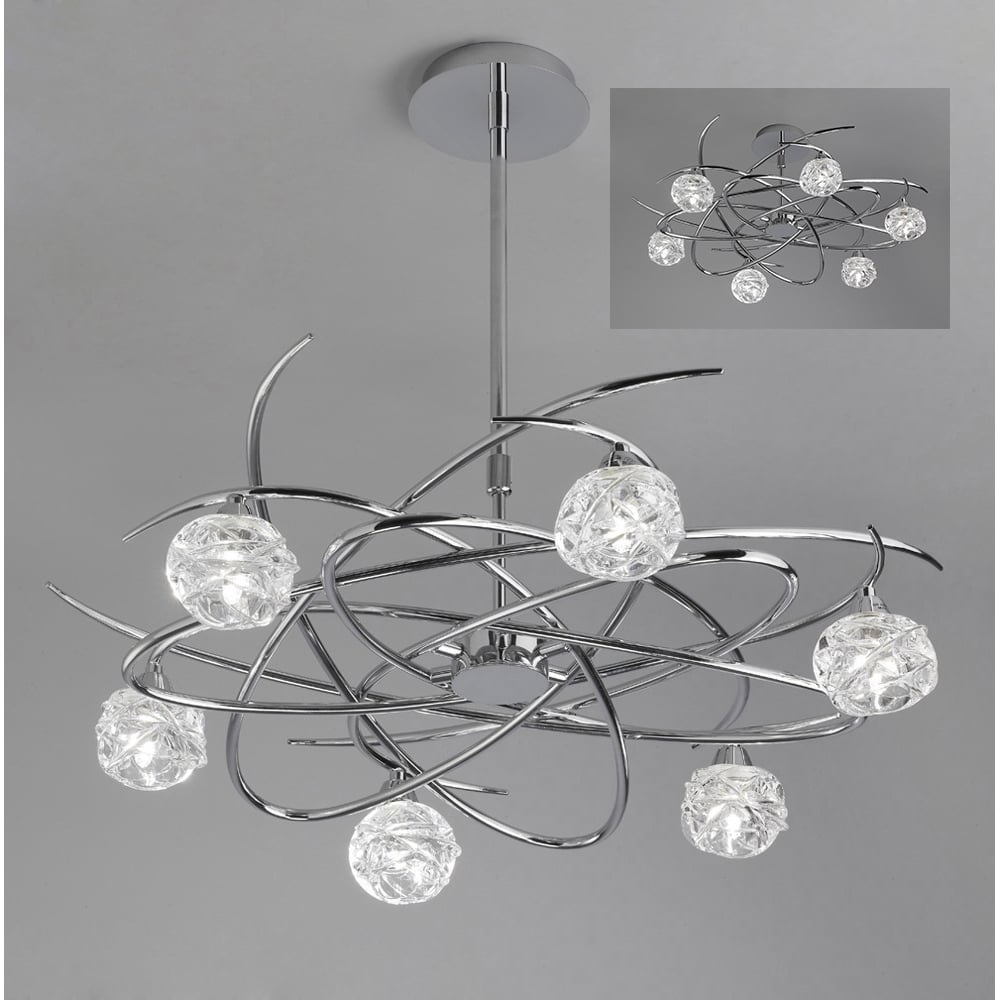 Plafoniera Telescopic Semi Flush Light
