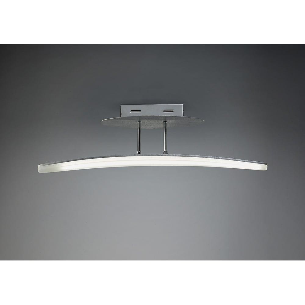 Plafoniera Hemisferic Semi Plafon Led Bar Satin Aluminium