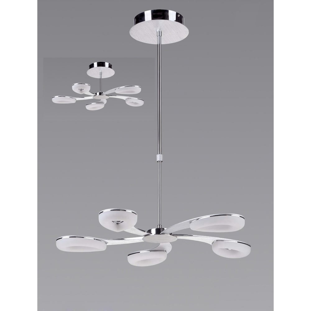 Plafoniera Telescopic Led Satin Aluminium