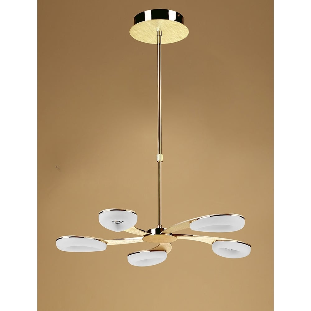Plafoniera Telescopic Led Satin Auriu