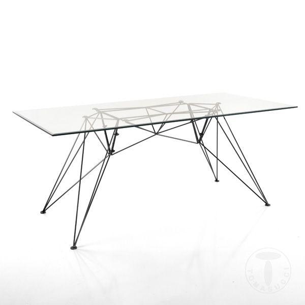 Masa Lemn Desk Spillo Negru Clear