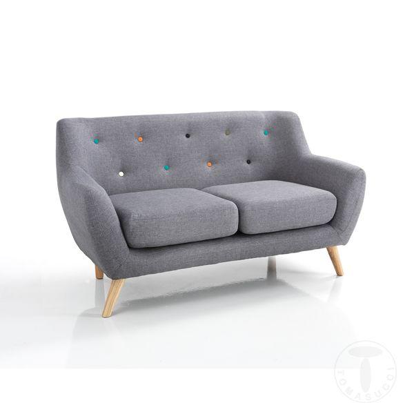 Canapea Fixa John Gri