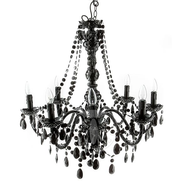 Lustra 8 lights chandelier JEWEL BLACK